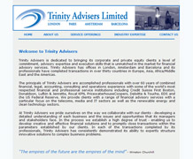 Trinity advisors Ltd website