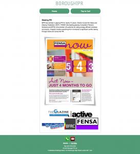Moblie version website design for Borough PR.